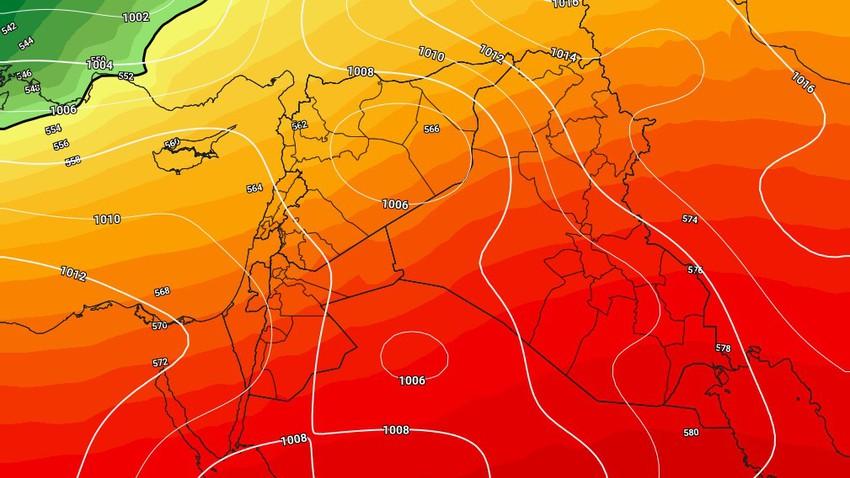 الأردن | بعد الأجواء الشتوية، مؤشرات على مُنخفض خماسيني آخر حول مُنتصف الأسبوع الجديد
