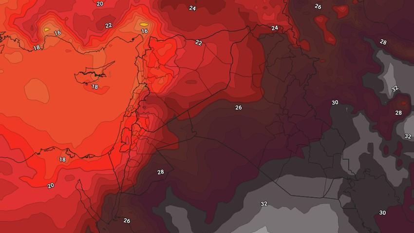 الأردن   انخفاض قليل على درجات الحرارة مع بقاء الأجواء حارة نسبياً في الأيام القادمة