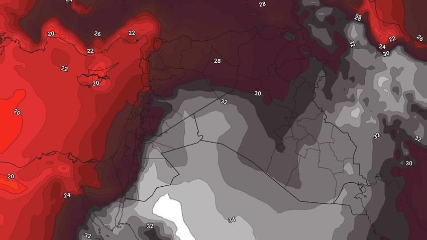الأردن | كتلة هوائية حارة جديدة تؤثر على المملكة مع اول ايام الخريف في علم الأرصاد الجوية