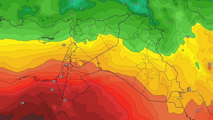 العراق | أجواء دافئة خلال عطلة نهاية الأسبوع واستمرار فرص الأمطار في المرتفعات الشمالية