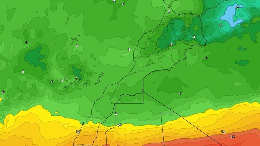 المغرب | ازدياد تأثير المُرتفع الجوي الأوزوري مع بقاء الطقس بارد إلى شديد البرودة