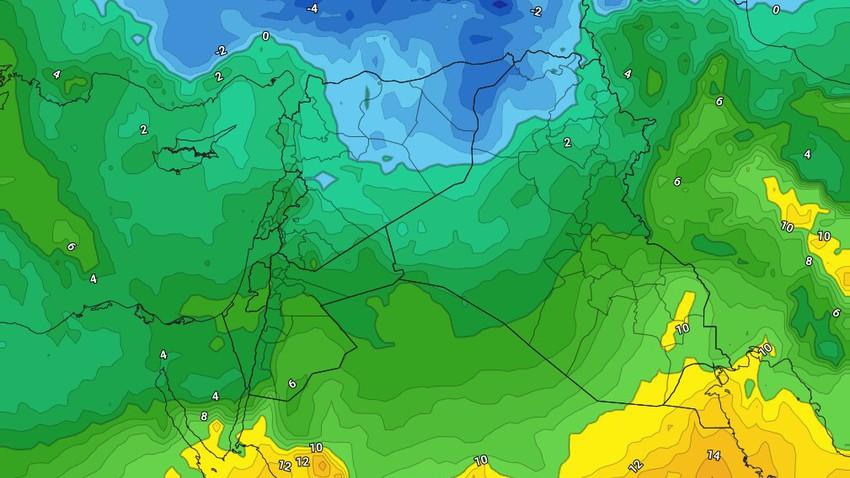 الأردن   استقرار الطقس حتى الثلاثاء وكتلة هوائية باردة تؤثر على المملكة الأربعاء
