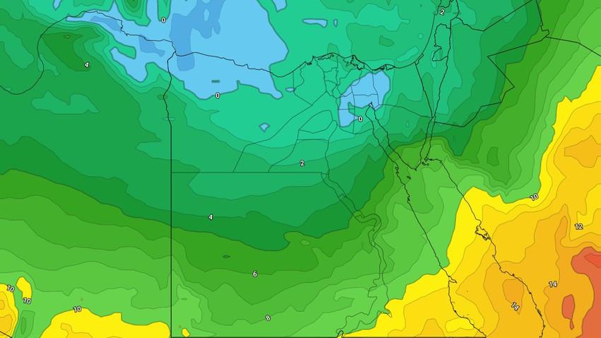 مصر - النشرة الأسبوعية | تقلبات حرارية وارتفاع فرص الأمطار على شمال البلاد مُنتصف الأسبوع