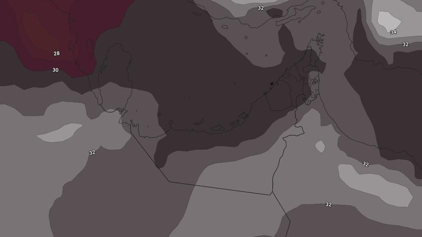 النشرة الأسبوعية للإمارات | طقس شديد الحرارة وفرصة لزخات رعدية مُنتصف الأسبوع على المرتفعات الجبلية الشرقية