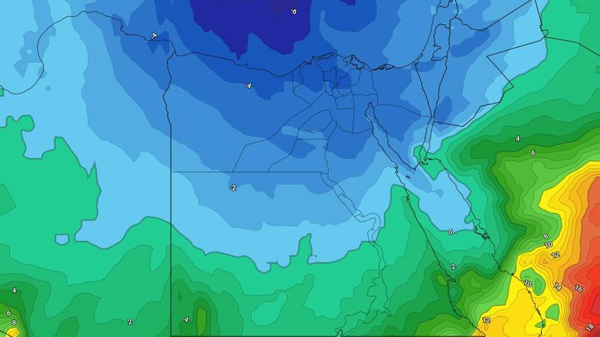مصر - النشرة الأسبوعية | بداية مُستقرة على الأجواء ومُنخفض جوي يجلب الرياح القوية والأمطار والثلوج للمرتفعات إعتبارًا من مُنتصف الأسبوع