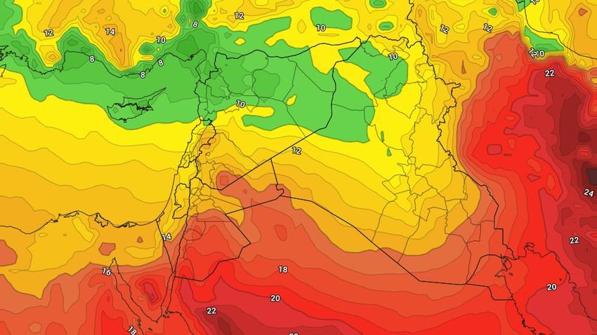 الأردن | طقس بارد مطلع الأسبوع وارتفاع ملموس على درجات الحرارة يبدأ من الثلاثاء