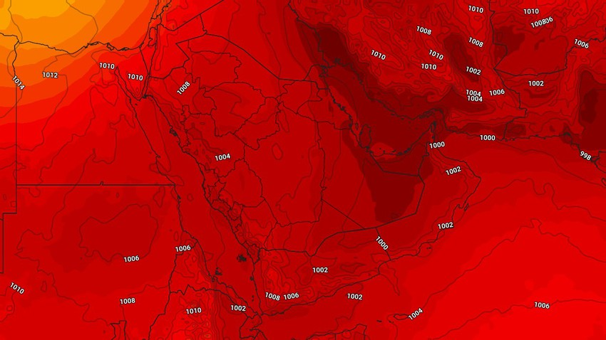 النشرة الأسبوعية لليمن   ارتفاع على درجات الحرارة الأيام القادمة مع استمرار هطول الأمطار الموسمية على المرتفعات الجبلية