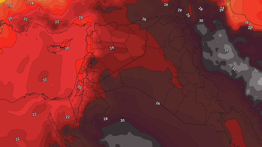 Iraq Weekly Bulletin   Slight rises in temperature as the northwest winds continue to blow