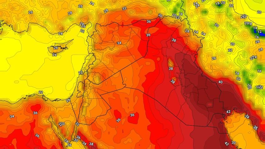Irak | Une légère baisse des températures samedi, avec l'activité des vents du nord-ouest