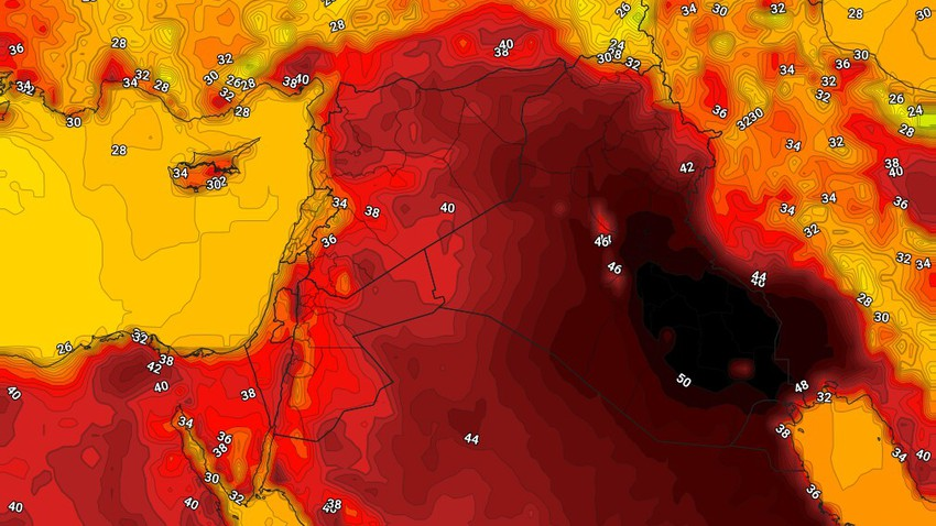 Iraq | An early warning of a severe heat wave in Iraq, starting from Saturday