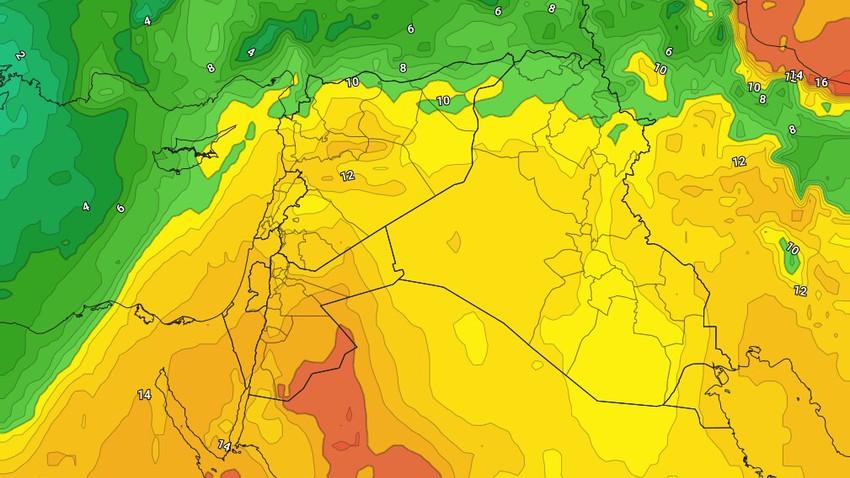 الأردن | كتلة هوائية افريقية دافئة مطلع الأسبوع وتغيرات جذرية مرتقبة على الانظمه الجوية في نهايته