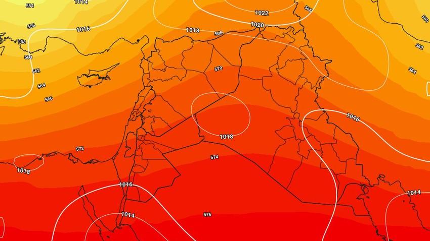 الأردن   ارتفاع واضح على درجات الحرارة مع ظهور السُحب العالية وهبوب الرياح الشرقية