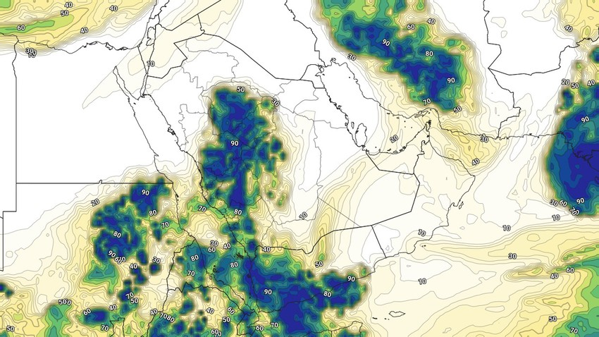 Yemen Weekly Bulletin | Increased flow of humid tropical air currents and unstable weather conditions in many areas