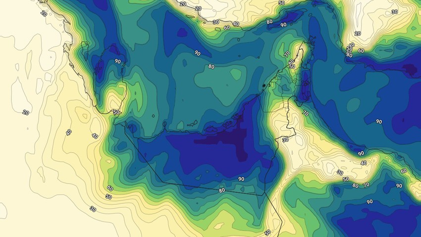 Emirates | Warning of low horizontal visibility as a result of some internal and coastal areas on the coming nights