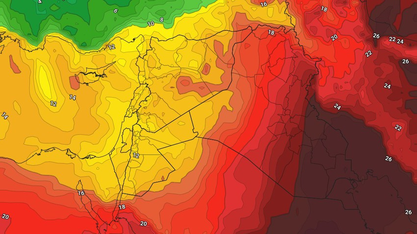 Jordan | The relatively hot weather will continue until Tuesday, and changes are expected in the atmosphere as of Wednesday