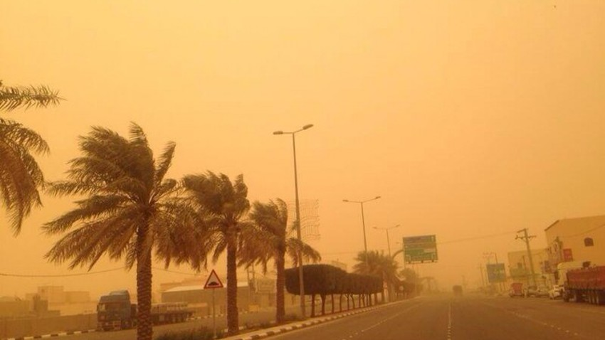 Saudi Arabia An air depression pushing strong winds in the dust in the north of the Kingdom coinciding with the first days of Eid Al Fitr