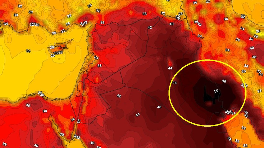 العراق | طقس شديد الحرارة ومؤشرات على حرارات خمسينية مجددا نهاية الاسبوع