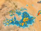 Update 9:00 PM | Large amounts of thunderstorms rush towards Qassim
