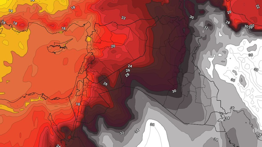 النشرة الأسبوعية للكويت | اشتداد على سرعة رياح البوارح واجواء شديدة الحرارة ومُغبرة بوجهٍ عام