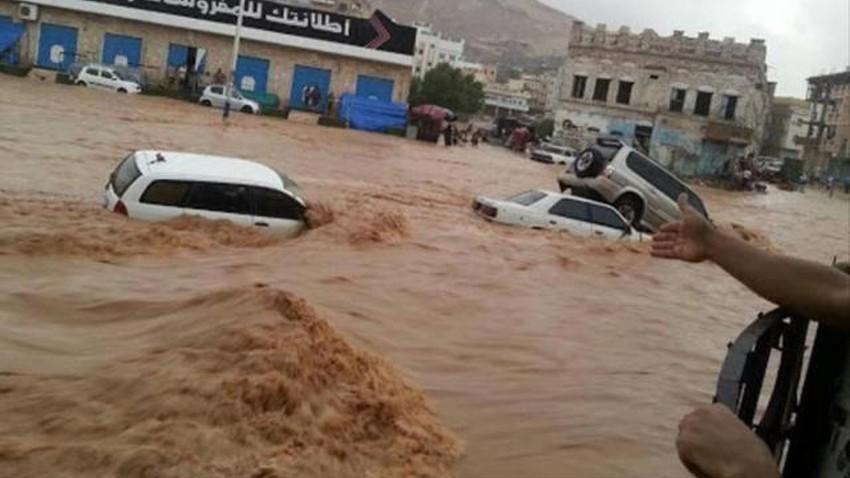 اليمن | 50 وفاة وتشريد 5400 أسرة بسبب الفيضانات