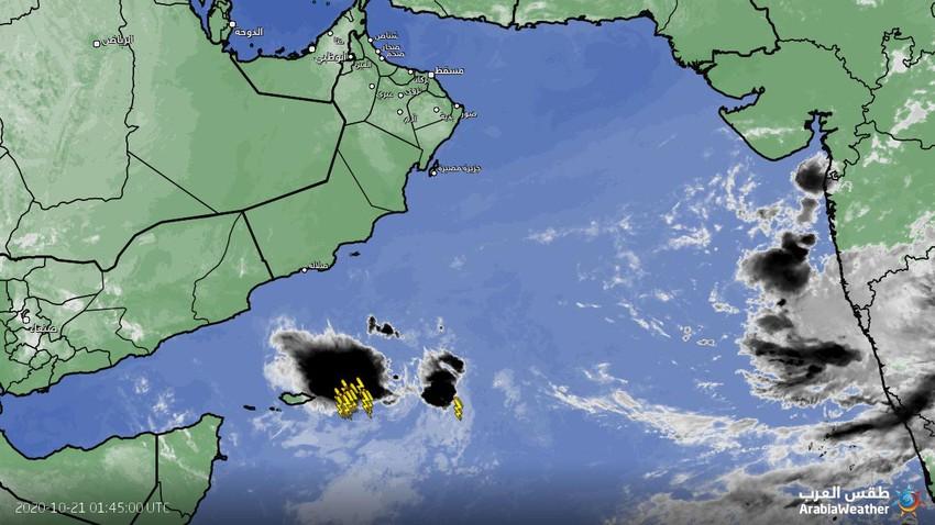 تحديثات الحالة المدارية في بحر العرب،المنخفض المداري يؤثر على جزيرة سقطرى اليمنية
