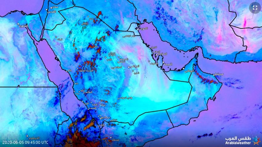 تحديث 2:00م   رصد موجة من الغبار شرق المملكة وتوقعات بتحركها نحو الرياض الساعات القادمة