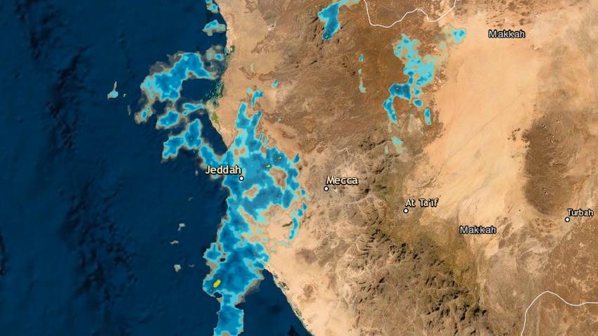 مدينة جدة   سحب متوسطة وفرصة للأمطار الخفيفة على فترات يومي السبت والأحد