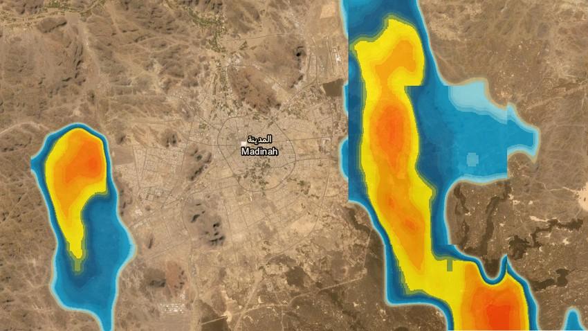 تحديث 2:50م | سُحب رعدية تقترب من المدينة المنورة والأمطار واردة خلال الساعات القادمة