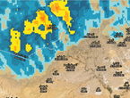 Update 2:40 am Rain clouds moving towards the capital Riyadh from the north