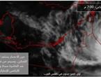 The eye of cyclone `Shaheen` approaching the Omani coast.