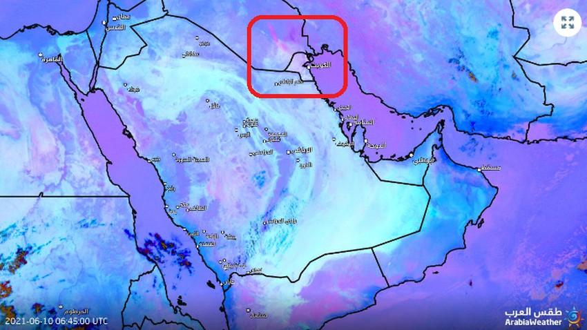 تحديث 10:30 صباحاً | شرارة الغبار انطلقت من جنوب العراق والأقمار الإصطناعية ترصد تحركها نحو الكويت وشرق السعودية .. شاهد الان