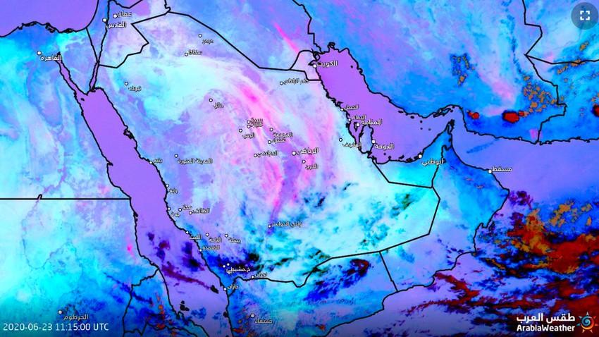 تحديث 3:20م | الغبار يتسبب بتدني مدى الرؤية الأفقية في الرياض والخرج وأجزاء واسعة من الشرقية