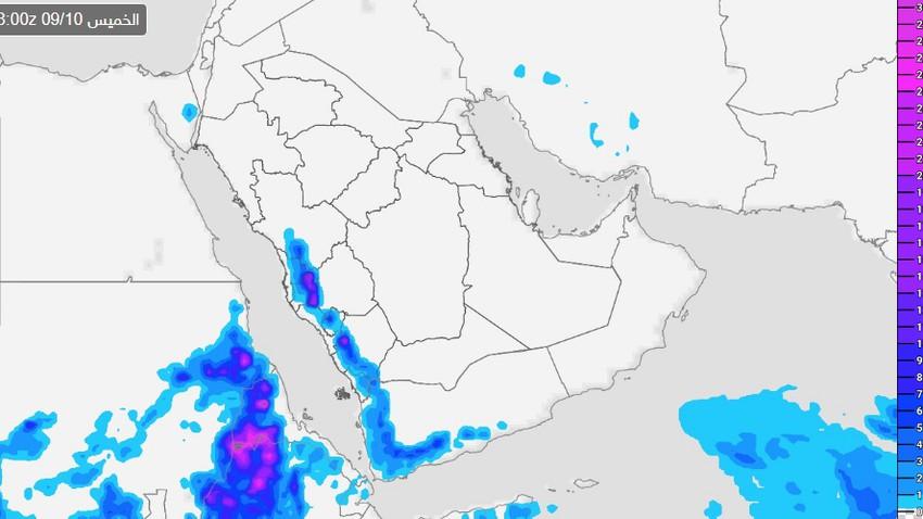 الطائف   تزايد فرص الأمطار واشتدادها ظهر وعصر الخميس