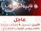 الصحة: تسجيل 4 إصابات بالفايروس كورونا في الأردن وارتفاع إجمالي الإصابات إلى 353