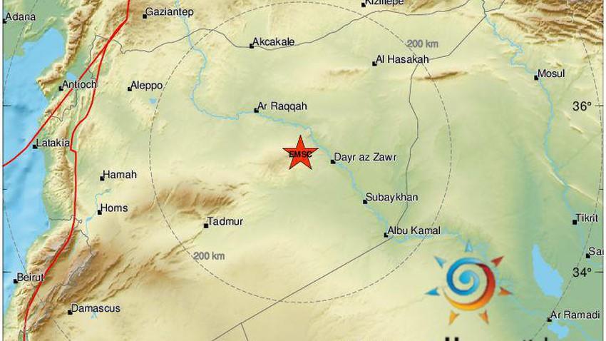 بقوة ٤.٩ … هزة ارضية تضرب شرق سوريا وشعرت بها مناطق مجاورة