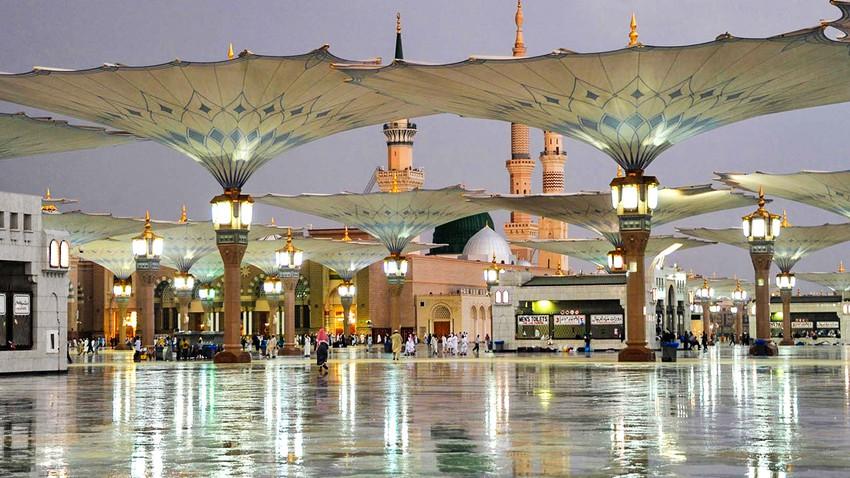 المدينة المنورة | زخات رعدية من المطر خلال الساعة القادمة