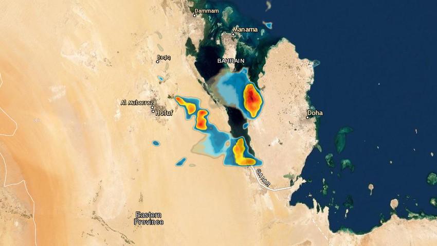 الإحساء | أمطار رعدية محتملة تترافق بالغبار خلال الساعة القادمة