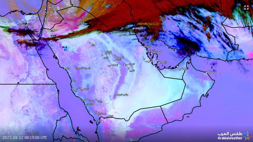 عاجل | بدء تشكل موجات غبارية كثيفة في شمال المملكة والرؤية دون 800م في عرعر وسكاكا