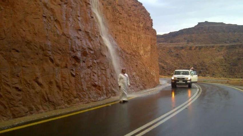 تبوك | منخفض جوي خماسيني يجلب الأمطار الرعدية لمنطقة تبوك الخميس و الجمعة