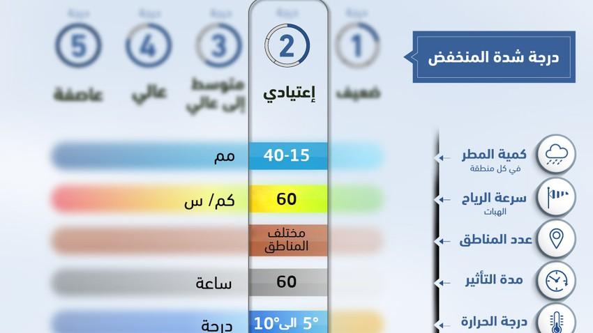 الأردن | مُنخفض جوي من الدرجة الثانية يؤثر على المملكة حتى الاثنين..سُحب على فترات والأمطار واردة بين الحين والآخر
