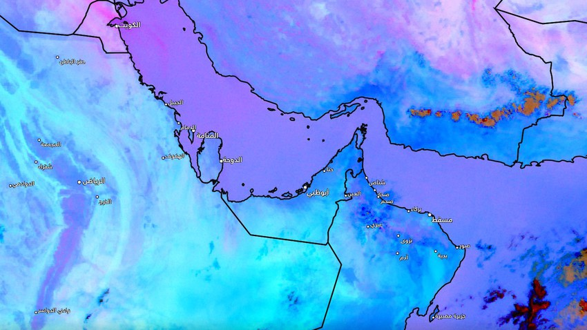 Kuwait - update at 02.45 pm | The dust wave continues, and more dust-laden winds are coming in the coming hours