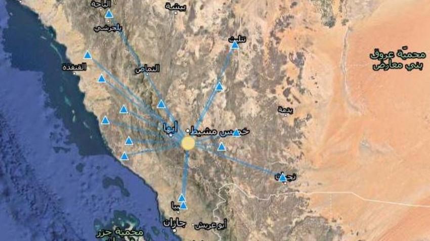 السعودية   هزة أرضية بقوة 3.1 ريختر شعر بها سكان أبها وخميس مشيط