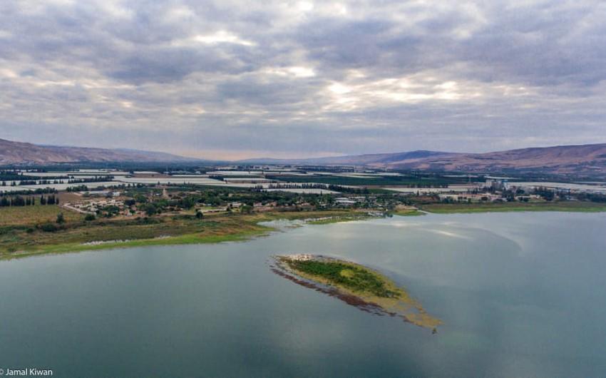 ماذا يعني ظهور جزيرة في بحيرة طبريه ..!!