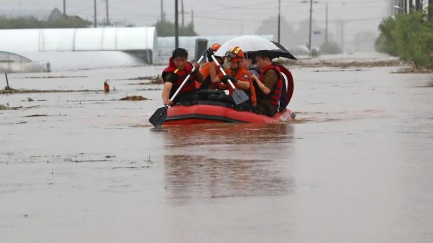 الأمطار الغزيرة في كوريا الجنوبية تخلف 14 وفاة