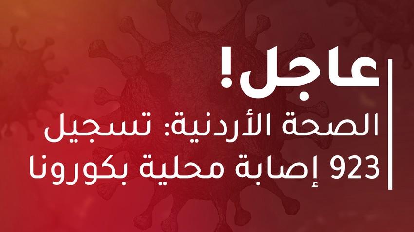 الأردن | 923 إصابة محلية جديدة بكورونا و10 حالات وفاة