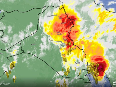 Iraq | Strong thunderstorms over the northeast of the country and alerts of torrents forming