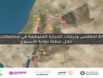 حالة الطقس المتوقعة خلال عطلة نهاية الأسبوع الأول من شهر أغسطس في الأردن