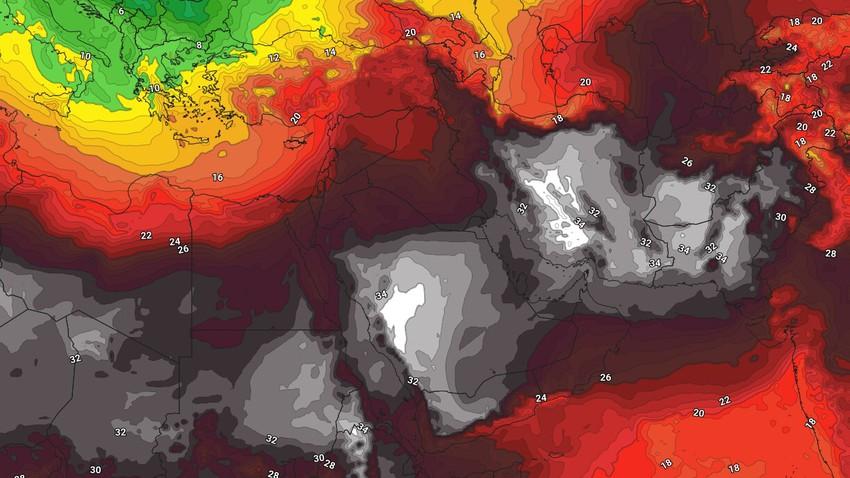 مصر   منخفض خماسيني وارتفاع كبير مرتقب على درجات الحرارة الأسبوع القادم