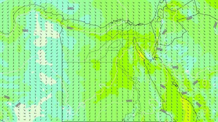 Egypte | Avertissement d'une hausse des chances de poussière dans les prochains jours, une grande activité sur les vents, et des rafales de 60 km/h