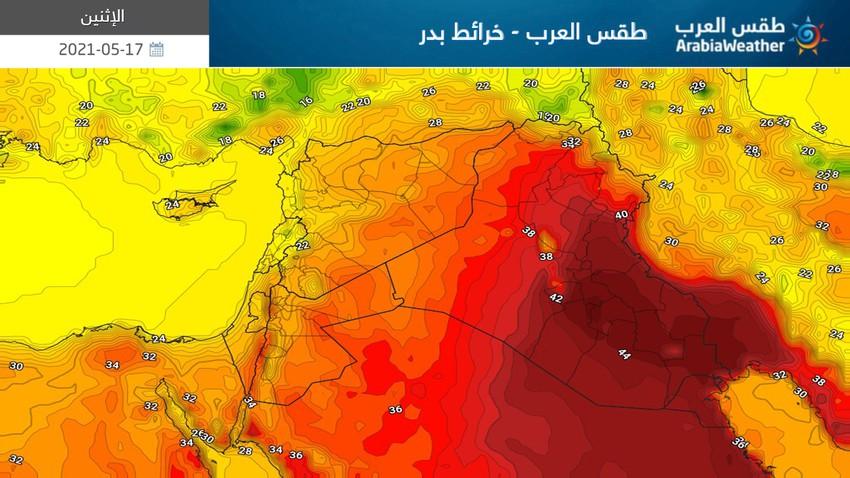 بلاد الشام | انخفاض طفيف على درجات الحرارة ورياح نشطة مُثيرة للغبار في بعض المناطق الإثنين